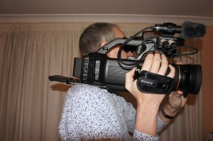 The PMW-300 tends to sit well back on your shoulder.